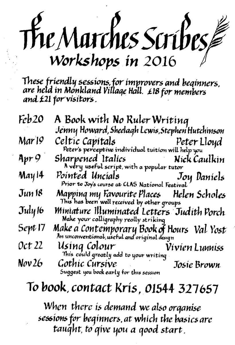 Workshops 2016