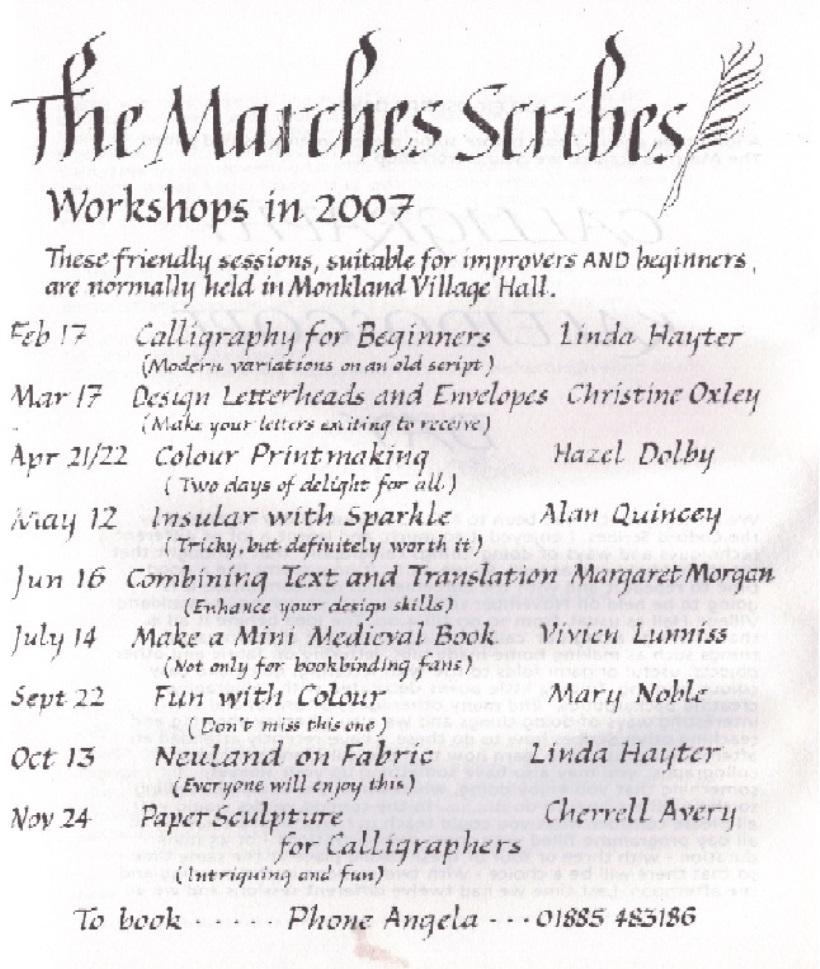 workshops2007