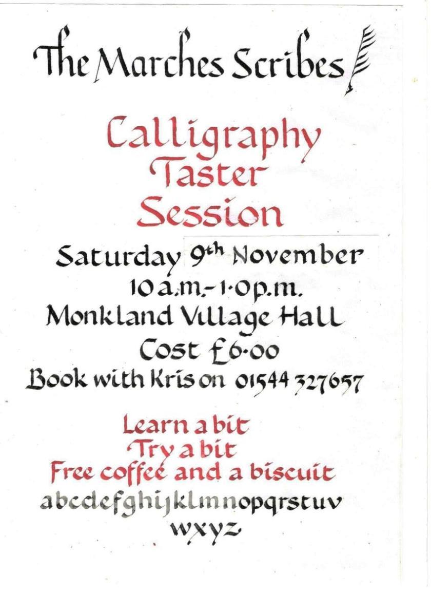 taster day 19 poster November 2019